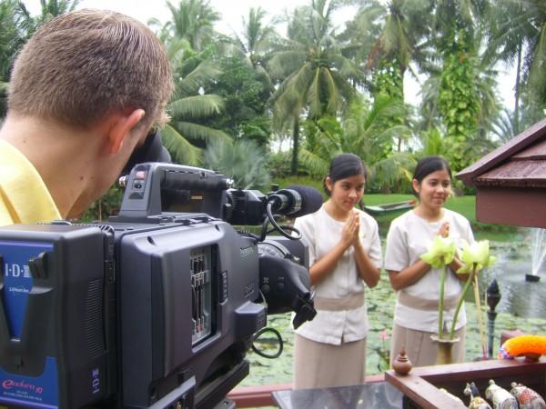 Hotel video shoot, JW Marriott, Phuket, Thailand